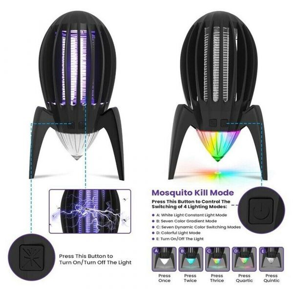 Electronic Mosquito Killer RGB Light Combined with UV Light_9