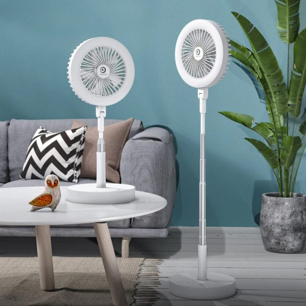 Retractable USB Charging Fan with Ring Light and Touch Panel_2