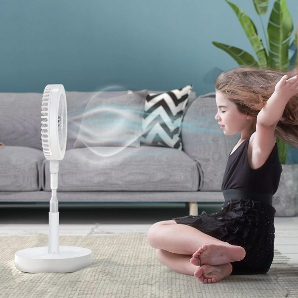 Retractable USB Charging Fan with Ring Light and Touch Panel_0