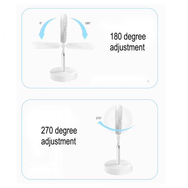 Retractable USB Charging Fan with Ring Light and Touch Panel_14