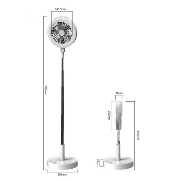 Retractable USB Charging Fan with Ring Light and Touch Panel_15
