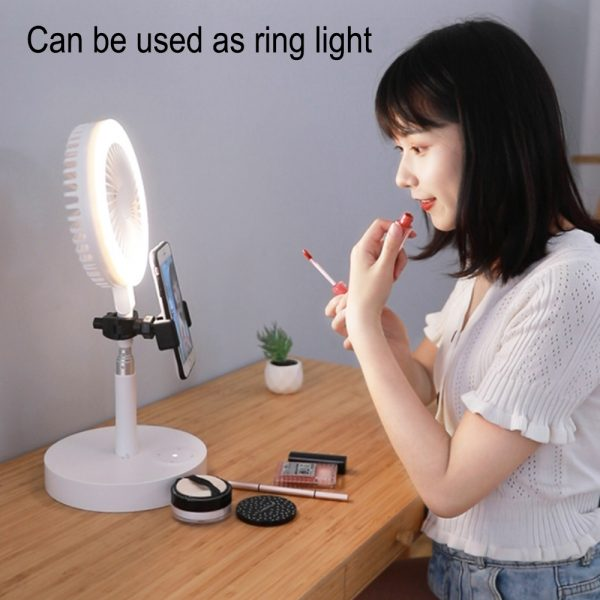 Retractable USB Charging Fan with Ring Light and Touch Panel_16