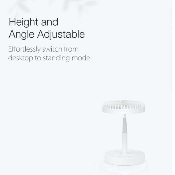 Retractable USB Charging Fan with Ring Light and Touch Panel_4