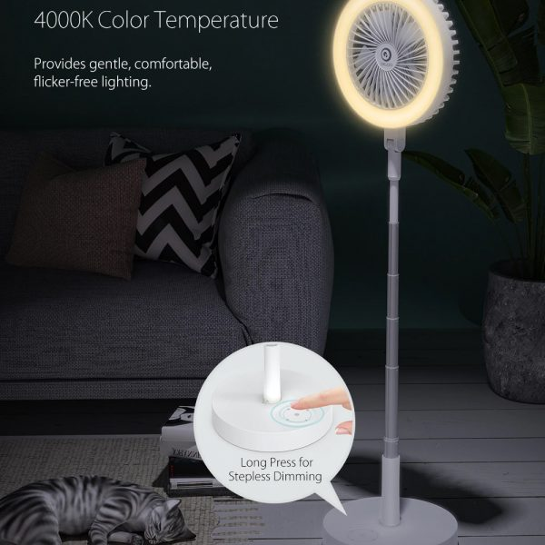 Retractable USB Charging Fan with Ring Light and Touch Panel_6