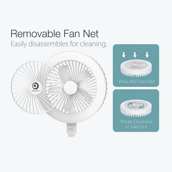 Retractable USB Charging Fan with Ring Light and Touch Panel_7