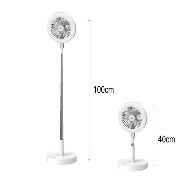 Retractable USB Charging Fan with Ring Light and Touch Panel_11