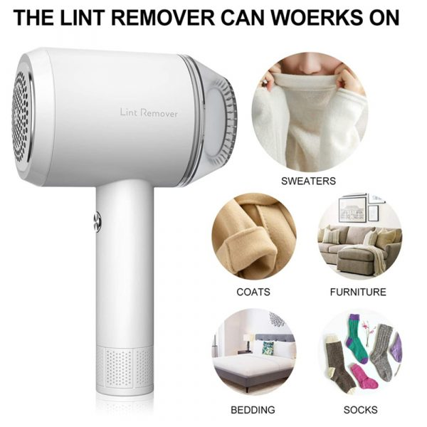 Rechargeable Lint Hair Remover Device Handheld Fabric Defuzzer_6