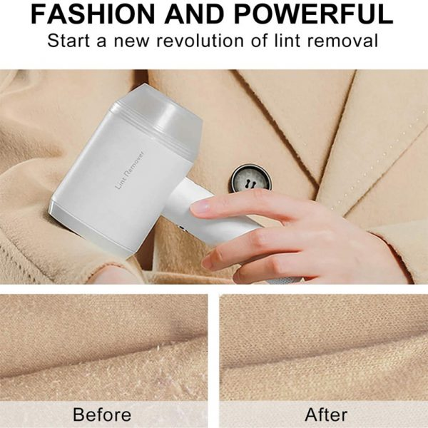 Rechargeable Lint Hair Remover Device Handheld Fabric Defuzzer_7