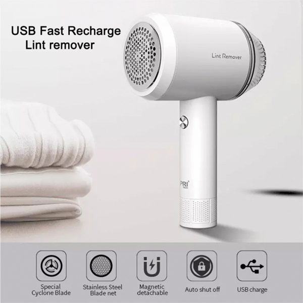 Rechargeable Lint Hair Remover Device Handheld Fabric Defuzzer_10