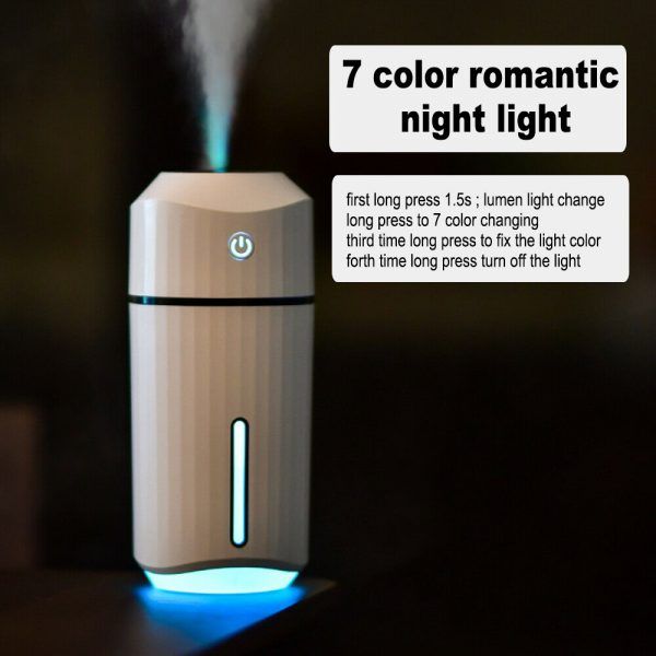 320ml Ultrasonic Car Air Humidifier Scent Diffuser and Hydrator_15
