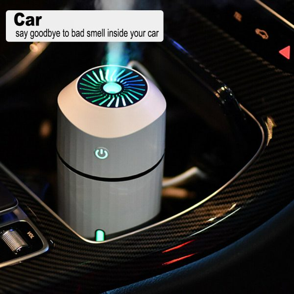 320ml Ultrasonic Car Air Humidifier Scent Diffuser and Hydrator_10