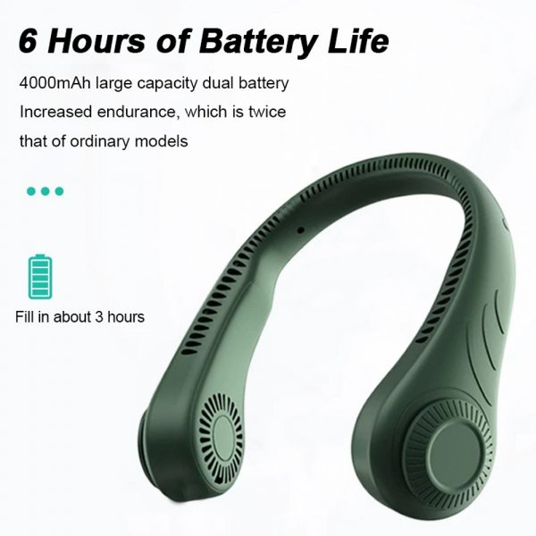 Portable Handsfree Bladeless Rechargeable Hanging Neck Fan_4