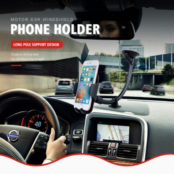 Car Windshield Suction Type Mobile Phone Holder Support Bracket_5