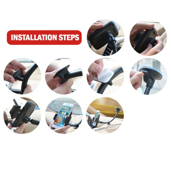 Car Windshield Suction Type Mobile Phone Holder Support Bracket_13