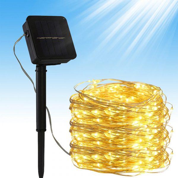 200LED Solar Powered String Fairy Light for Outdoor Decoration_10