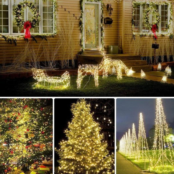 200LED Solar Powered String Fairy Light for Outdoor Decoration_13