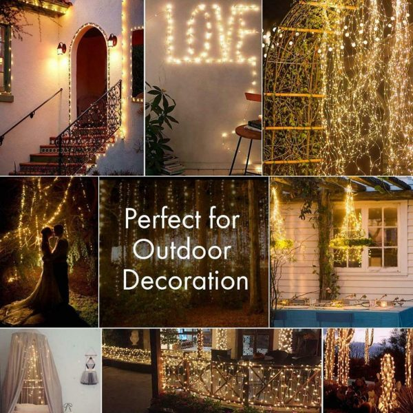 200LED Solar Powered String Fairy Light for Outdoor Decoration_14