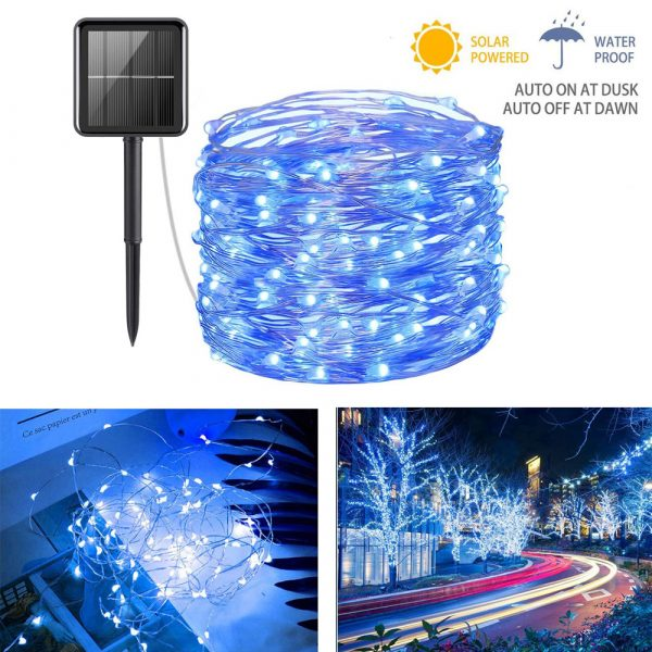 200LED Solar Powered String Fairy Light for Outdoor Decoration_15