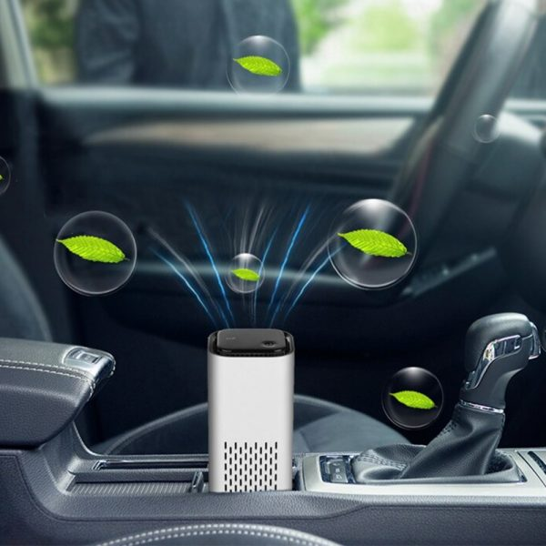 Mini Car Home Air Purifier and Night Light with Real HEPA Filter_5