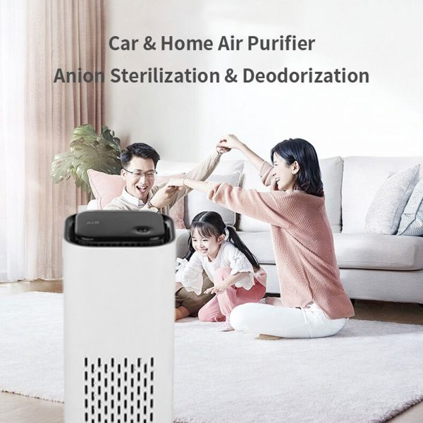 Mini Car Home Air Purifier and Night Light with Real HEPA Filter_6