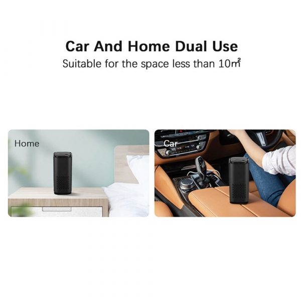 Mini Car Home Air Purifier and Night Light with Real HEPA Filter_8