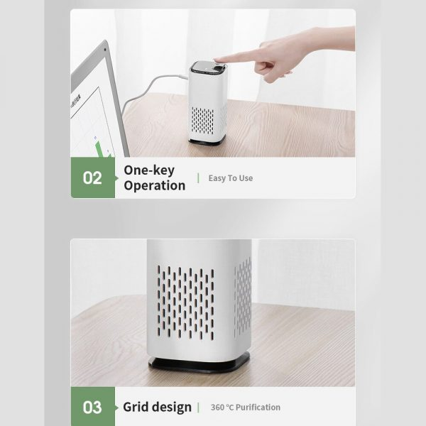Mini Car Home Air Purifier and Night Light with Real HEPA Filter_13