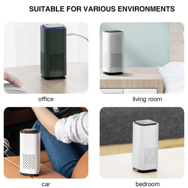 Mini Car Home Air Purifier and Night Light with Real HEPA Filter_14