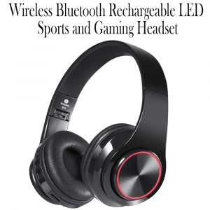 Wireless Bluetooth Rechargeable LED Sports and Gaming Headset