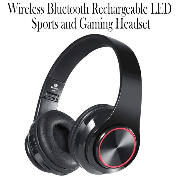 Wireless Bluetooth Rechargeable LED Sports and Gaming Headset_0
