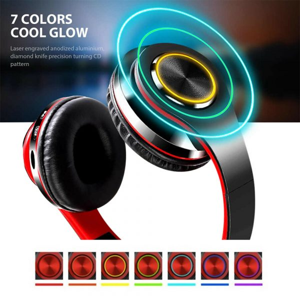 Wireless Bluetooth Rechargeable LED Sports and Gaming Headset_13