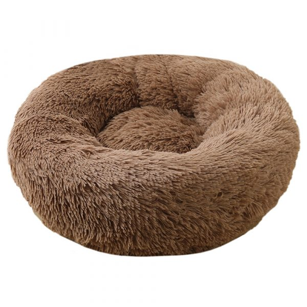 Machine Washable Calming Donut Cat and Dog Pet Bed_3
