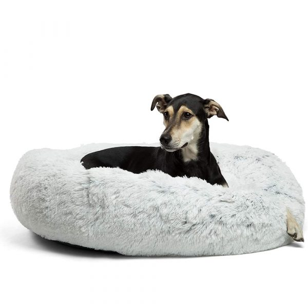 Machine Washable Calming Donut Cat and Dog Pet Bed_0