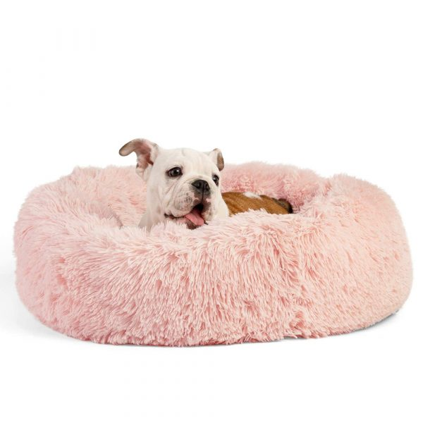 Machine Washable Calming Donut Cat and Dog Pet Bed_6