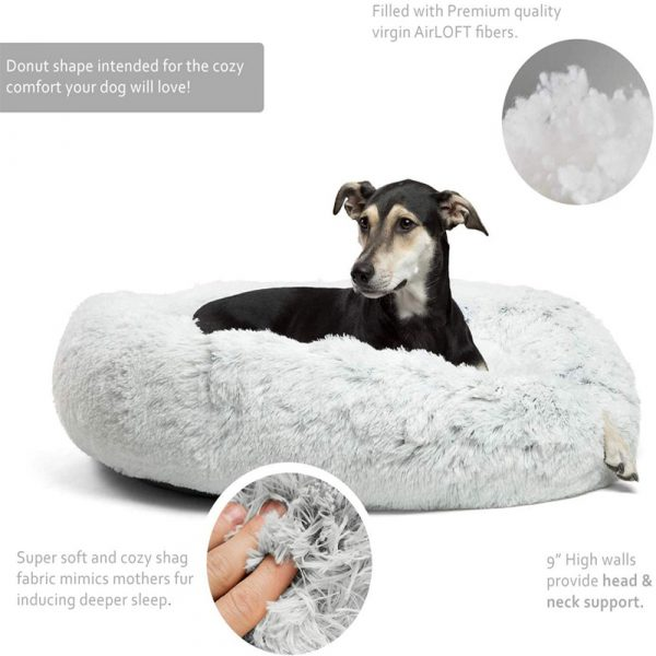Machine Washable Calming Donut Cat and Dog Pet Bed_7
