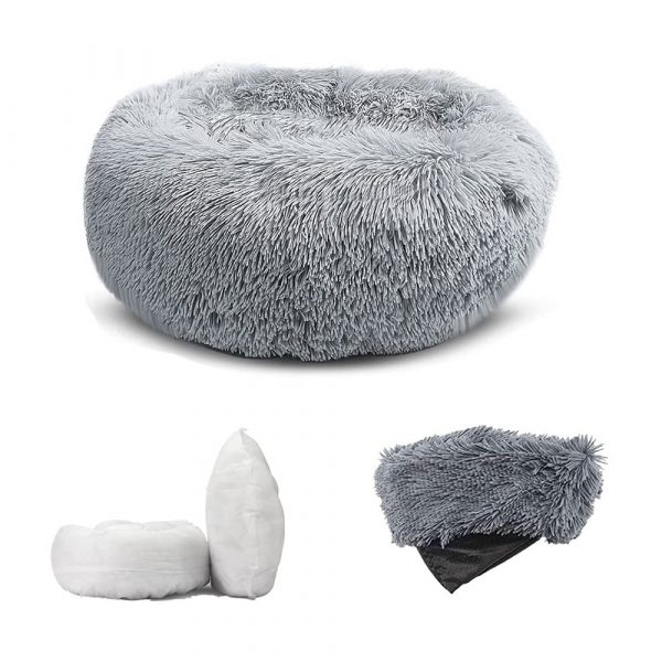 Machine Washable Calming Donut Cat and Dog Pet Bed_1