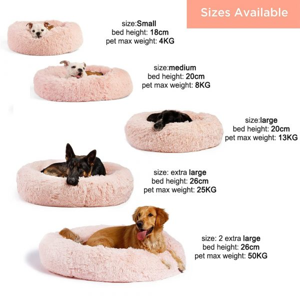 Machine Washable Calming Donut Cat and Dog Pet Bed_10