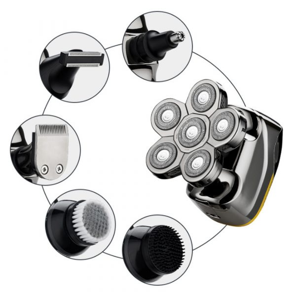 6 Blade Rechargeable Electric Hair Clipper Body Hair Shaver_5
