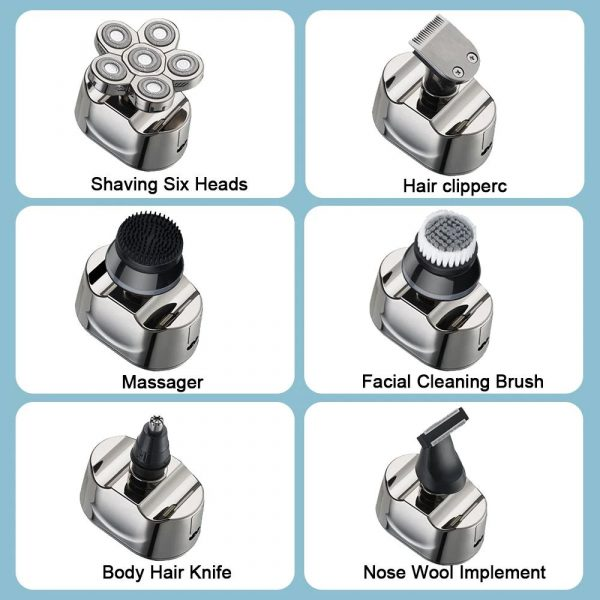 6 Blade Rechargeable Electric Hair Clipper Body Hair Shaver_14