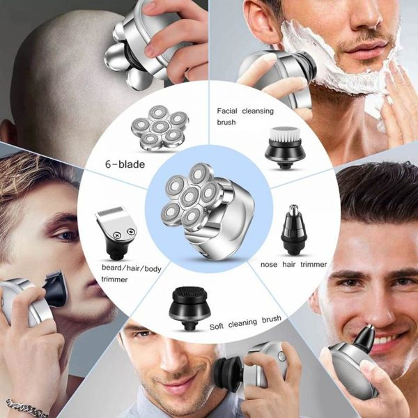 6 Blade Rechargeable Electric Hair Clipper Body Hair Shaver_15