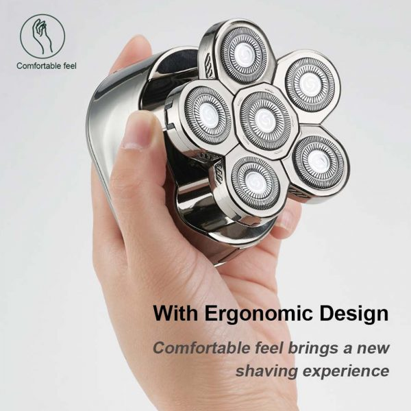 6 Blade Rechargeable Electric Hair Clipper Body Hair Shaver_12