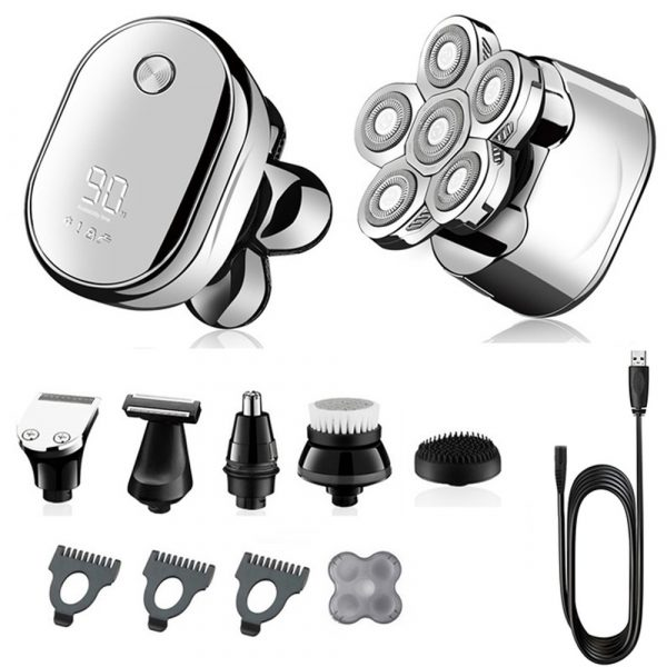6 Blade Rechargeable Electric Hair Clipper Body Hair Shaver_17