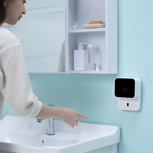 Wall Mounted Automatic Induction Hand Liquid Soap Dispenser_4