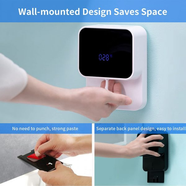 Wall Mounted Automatic Induction Hand Liquid Soap Dispenser_8