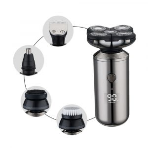 5-in-1 Rechargeable Digital Display Wet and Dry Electric Hair Shaver