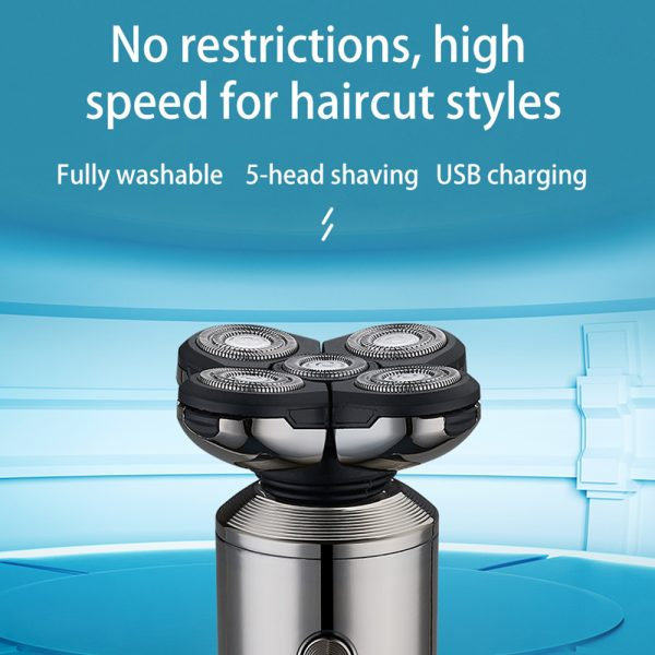5-in-1 Rechargeable Digital Display Wet and Dry Electric Hair Shaver_4