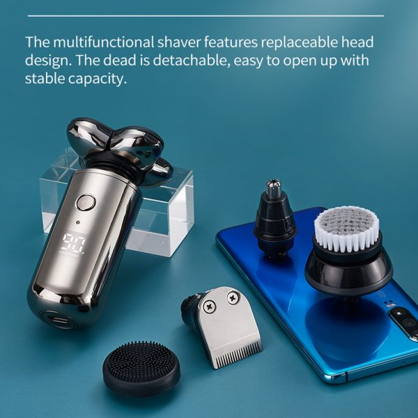5-in-1 Rechargeable Digital Display Wet and Dry Electric Hair Shaver_14