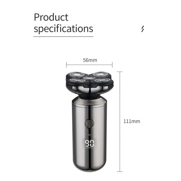 5-in-1 Rechargeable Digital Display Wet and Dry Electric Hair Shaver_16