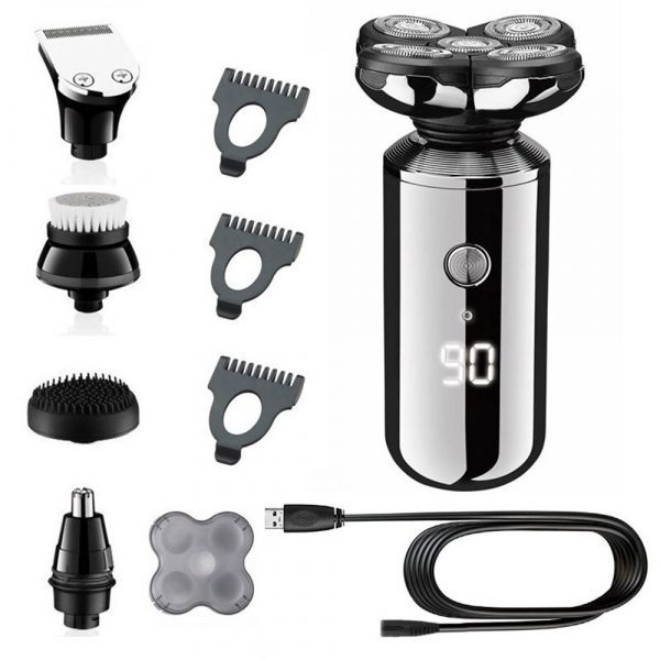 5-in-1 Rechargeable Digital Display Wet and Dry Electric Hair Shaver_5