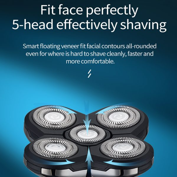5-in-1 Rechargeable Digital Display Wet and Dry Electric Hair Shaver_9