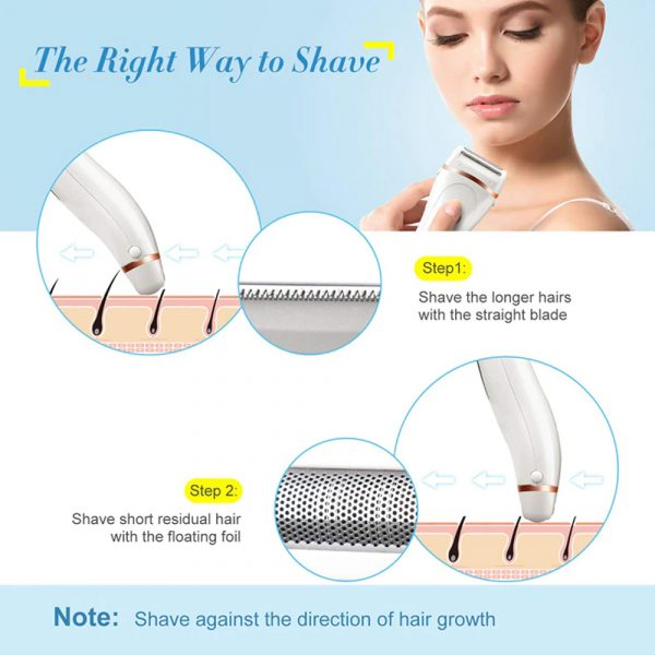 USB Electric Waterproof Hair Trimmer Epilator with LCD Display_7